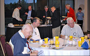 Rotary club breakfast