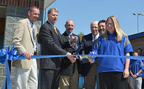Southern Wesleyan cuts ribbon for softball facility buildings