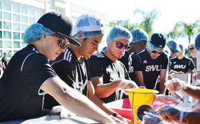 Soccer team helps hungry