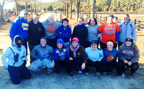 SWU Softball Takes Time to Lend A Hand at Rabbit Hill Farm