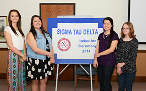Sigma Tau Delta inducts four