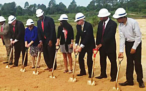 Specter takes part in groundbreaking
