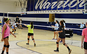 Warriors volleyball hosts summer camp