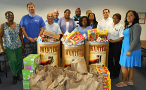 SWU donates to food bank