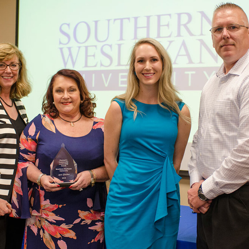 Fulcher receives Provost's Community Leadership Award