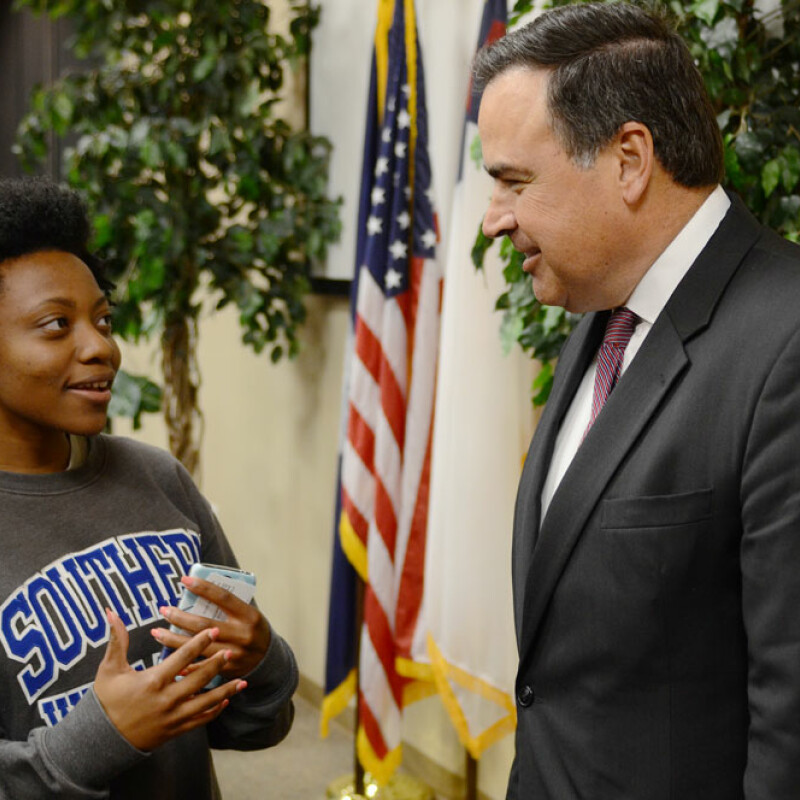 South Carolina Justice visits Southern Wesleyan University