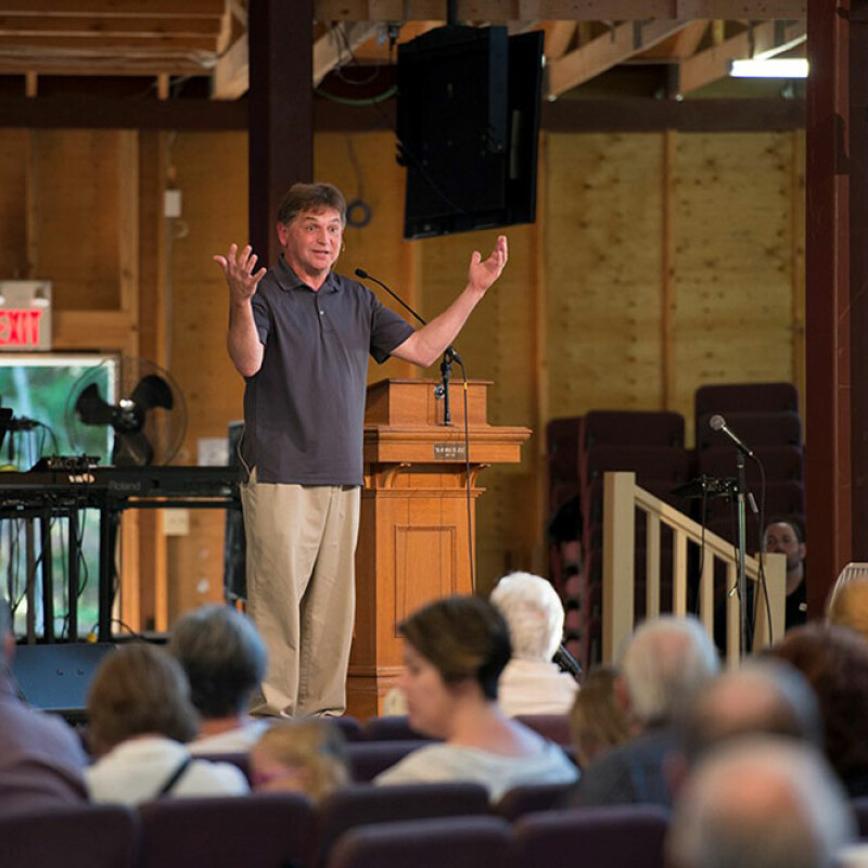 Wilson keynotes at Beulah Camp