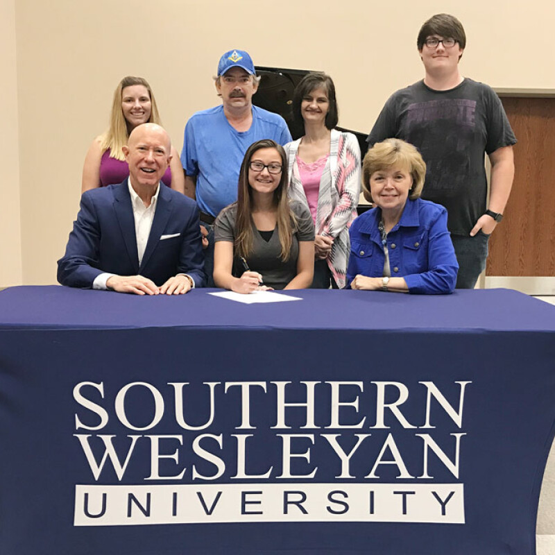 West-Oak's Hawkins receives SWU ensemble scholarship