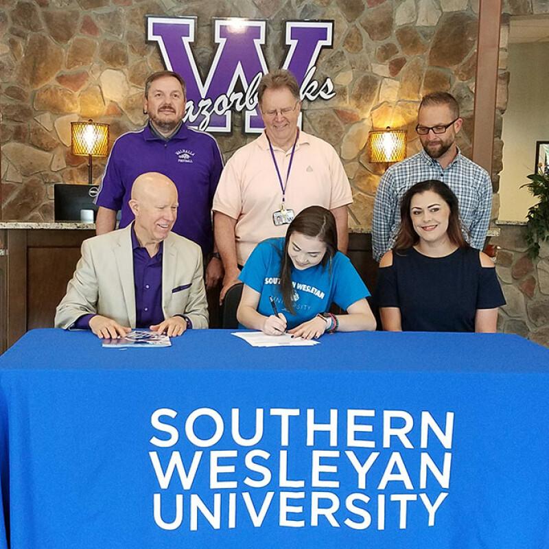 Walhalla's Gibson receives SWU ensemble scholarship