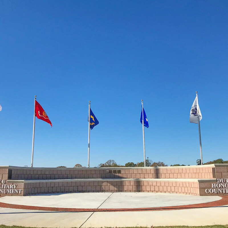 Southern Wesleyan University salutes military, dedicates monument