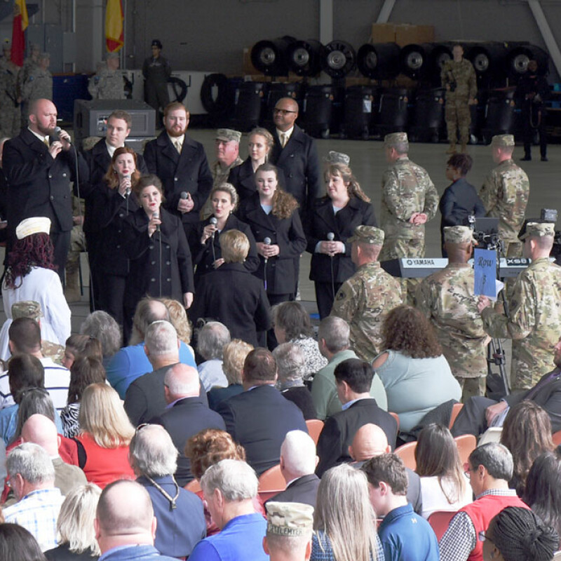 University Singers take part in Change of Command