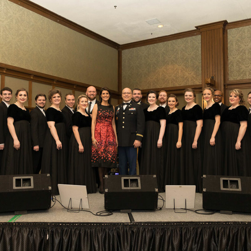 University Singers perform at National Guard Convention