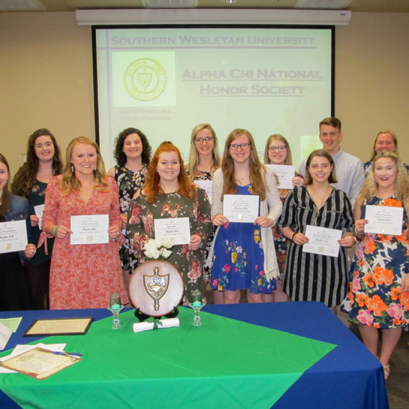 15 Students inducted into Alpha Chi