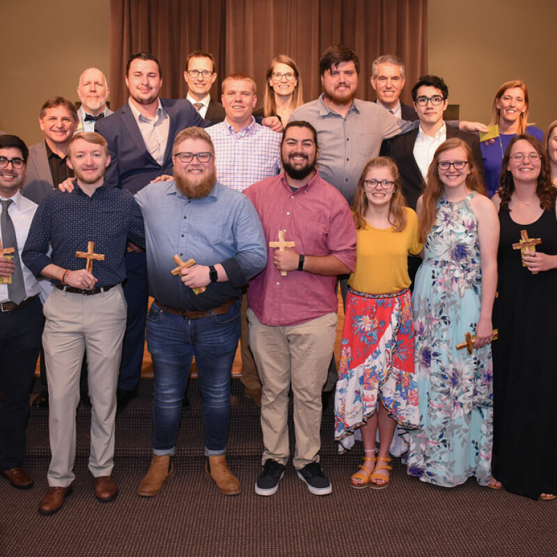 2019 graduating Religion students commissioned