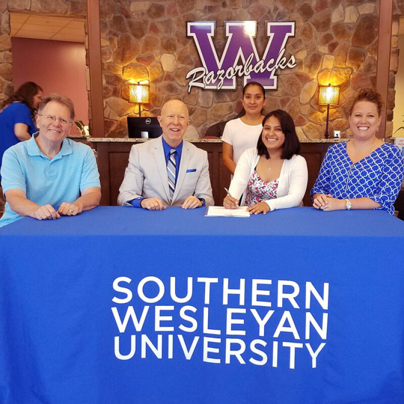Two from Walhalla High receive SWU ensemble scholarship