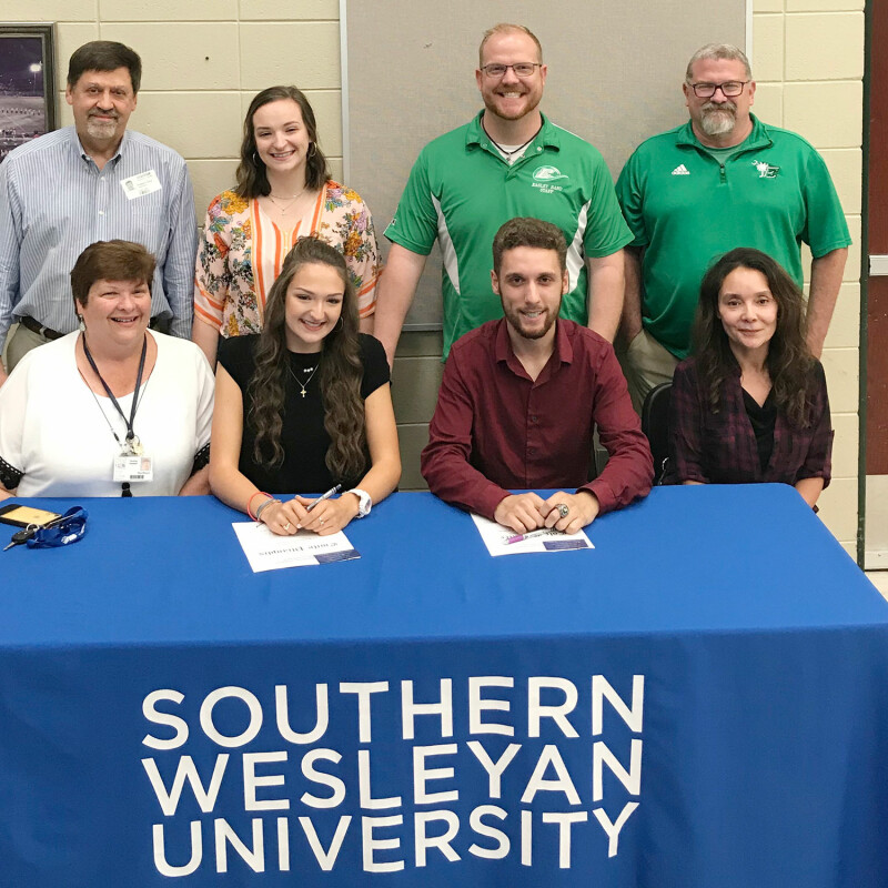 Two from Easley High receive SWU ensemble scholarship