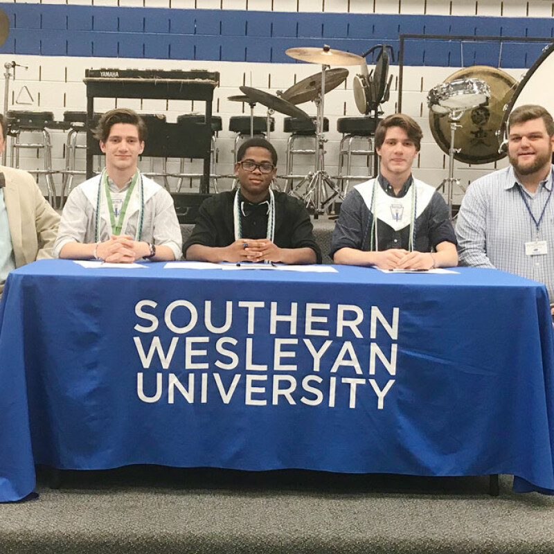 Three from Silver Bluff receive SWU ensemble scholarship