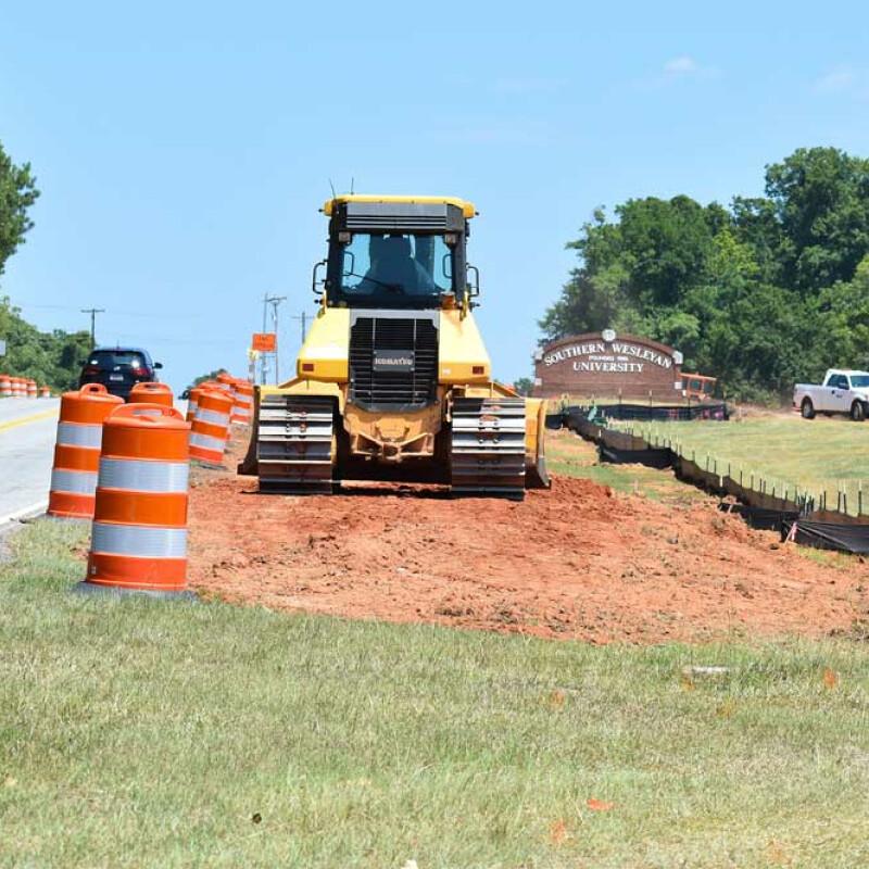 Campus entrance improvements underway