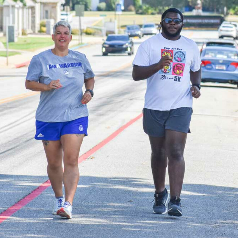 Inspired by his professor, SWU student sets half marathon goal