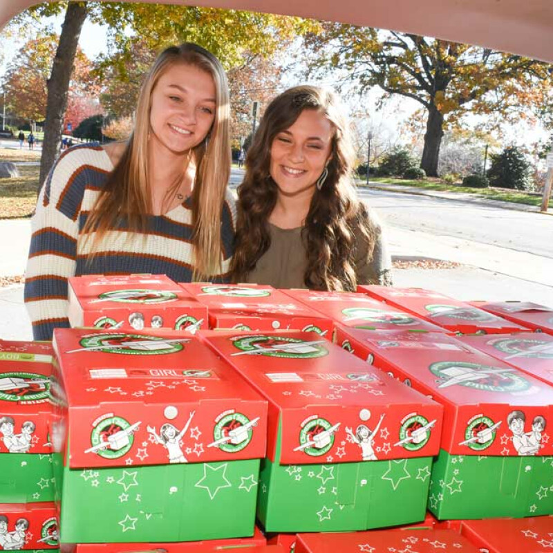SWU students work to bring Christmas cheer to needy children worldwide
