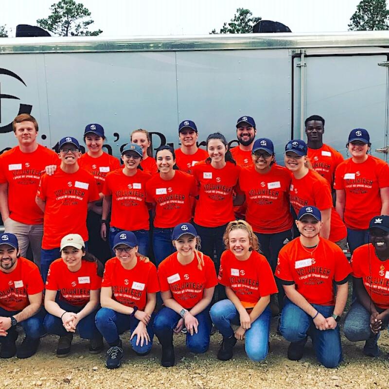 Students assist Samaritans Purse in Texas