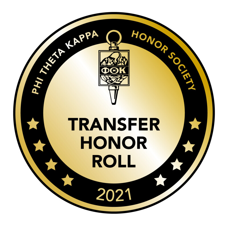SWU named to the Phi Theta Kappa 2021 Transfer Honor Roll